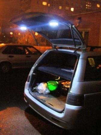 подсветка багажника на ваз-2111