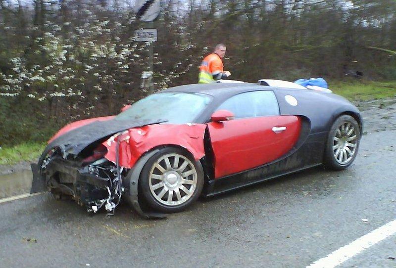 авария с участием Bugatti Veyron