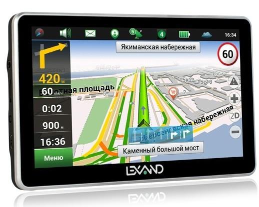 фото нового GPS-навигатора Lexand