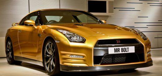 золотой Nissan