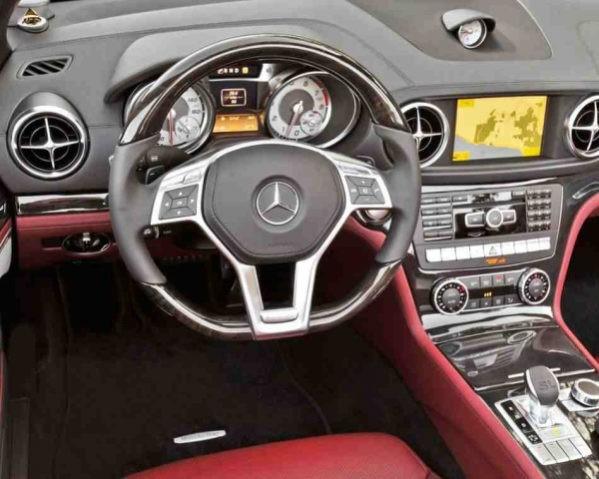 Mercedes SL550 фото салона