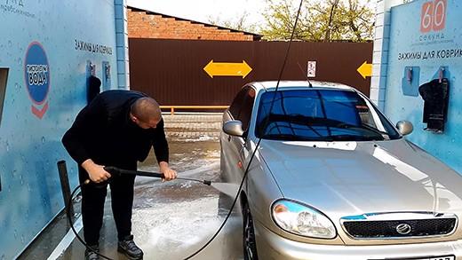 ополаскивание автомобиля обессоленной водой